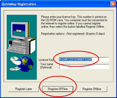 Register-Quickmap-Offline